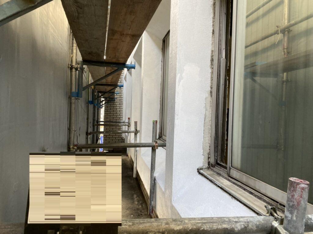 1972年築10月築のビル外壁アスベスト対策工事