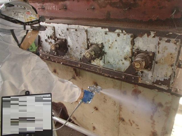 大阪府にて発電所解体工事に伴うアスベスト対策工事